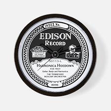 Harmonica Hoedown Edison Record label Wall Clock
