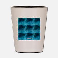 Houndstooth   Blue Shot Glass