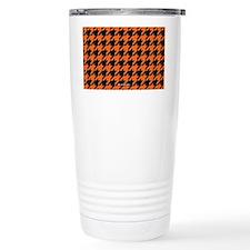 Houndstooth  Orange Travel Mug
