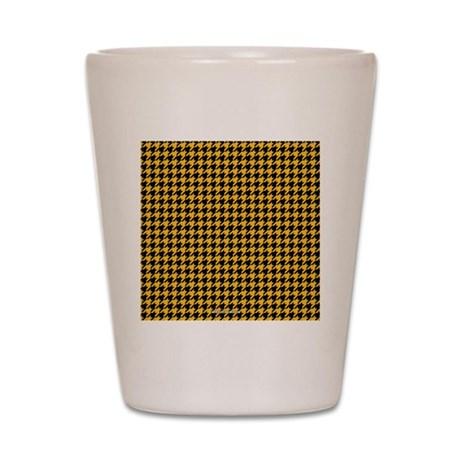 Houndstooth Yellow Shot Glass