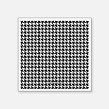 "Houndstooth  White Square Sticker 3"" x 3"""