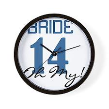 Blue Bride 14 Oh My Wall Clock