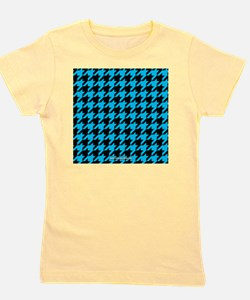 Houndstooth  Blue Girl's Tee