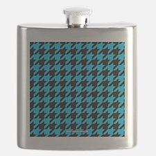 Houndstooth  Blue Flask