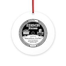 Wabash Blues Edison record label Round Ornament