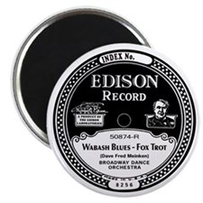 Wabash Blues Edison record label Magnet