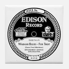 Wabash Blues Edison record label Tile Coaster