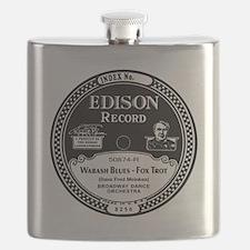 Wabash Blues Edison record label Flask