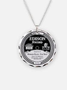 Wabash Blues Edison record l Necklace Circle Charm