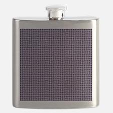 Houndstooth  Purple Flask
