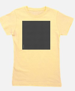 Houndstooth  Grey Girl's Tee