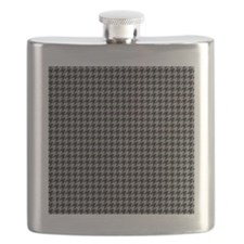 Houndstooth  Grey Flask
