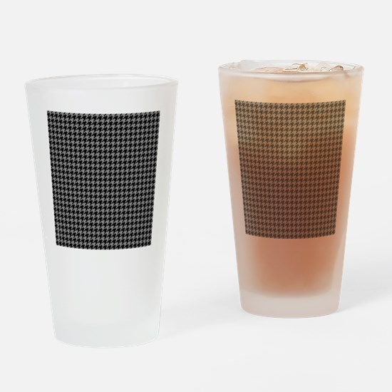 Houndstooth  Grey Drinking Glass