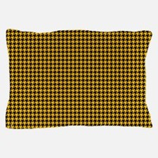 Houndstooth  Yellow Pillow Case