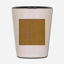 Houndstooth  Yellow Shot Glass