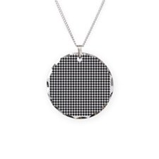 Houndstooth  White Necklace