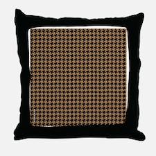 Houndstooth   Khaki Throw Pillow