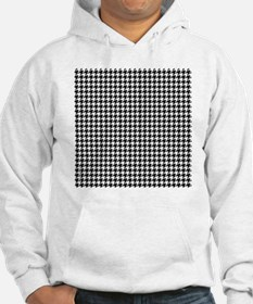 Houndstooth  White Hoodie