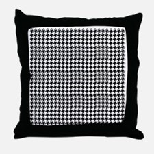 Houndstooth  White Throw Pillow