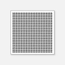 "Houndstooth  White Square Sticker 3"" x 3"""