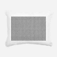 Houndstooth  White Rectangular Canvas Pillow