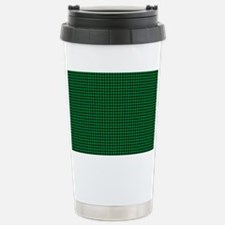 Houndstooth  Green Travel Mug