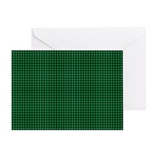 Houndstooth  Green Greeting Card