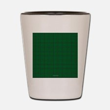Houndstooth  Green Shot Glass