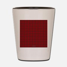 Houndstooth  Red Shot Glass