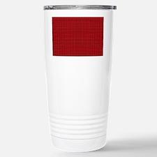 Houndstooth  Red Travel Mug
