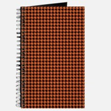 Houndstooth  Orange Journal
