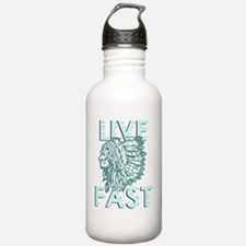 live fast dark Water Bottle