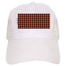Houndstooth   Orange Baseball Cap