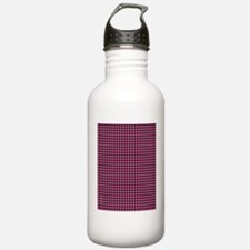 Houndstooth  Pink Water Bottle