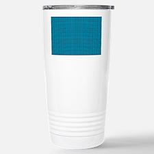 Houndstooth  Blue Travel Mug