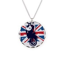 Union Jack Scooter Necklace