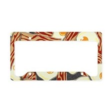 Bacon and Eggs Pattern License Plate Holder