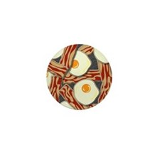 Bacon and Eggs Pattern Mini Button