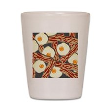 Bacon and Eggs Pattern Shot Glass