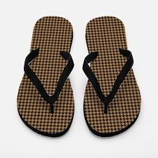 Houndstooth   Khaki Flip Flops