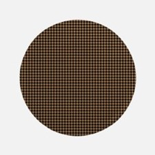 "Houndstooth   Khaki 3.5"" Button"