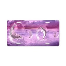 Dream Of Dolphins Aluminum License Plate