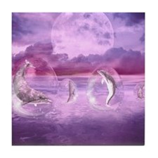 Dream Of Dolphins Tile Coaster