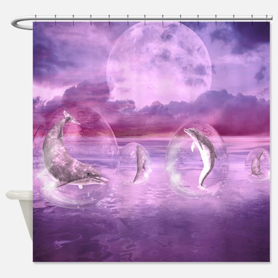 Dream Of Dolphins Shower Curtain