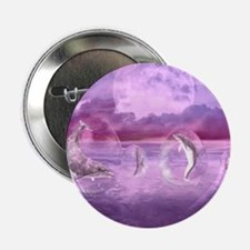 """Dream Of Dolphins 2.25"""" Button"""