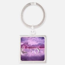 Dream Of Dolphins Square Keychain