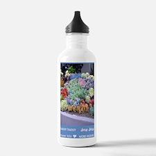 hhjj journal succulent Water Bottle