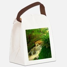 Stream in the forest Canvas Lunch Bag