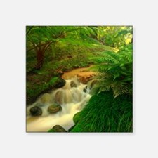 "Stream in the forest Square Sticker 3"" x 3"""