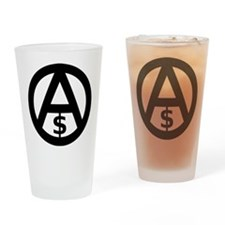 Anarcho-Capitalism Drinking Glass